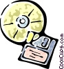 Rom-rom and a 3.5mm diskette Vector Clipart picture