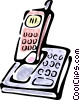 Vector Clipart graphic  of a cordless phone