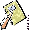 binder and a pen Vector Clip Art picture