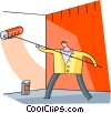 Painting and Renovation Concepts Vector Clipart picture