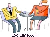 Restaurant scenes Vector Clip Art graphic