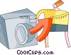 Vector Clip Art image  of a Laundry