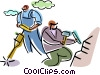 Vector Clip Art graphic  of a Trades People