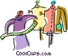Vector Clipart graphic  of a Clothing Manufacture and