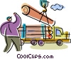 Forestry and Logging Vector Clipart graphic