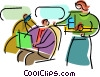 Vector Clip Art image  of a In-Flight Activities