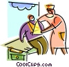 Nurses with Patients Vector Clip Art picture