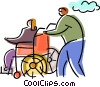 Vector Clip Art picture  of a People with Disabilities