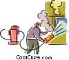 Vector Clip Art graphic  of a Firemen