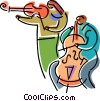 Vector Clip Art graphic  of a Ensembles
