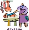 Vector Clip Art image  of a Butchers