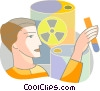 Vector Clip Art graphic  of a Scientists and Researchers