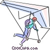 Vector Clipart image  of a Paraglide taking off