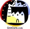 Vector Clip Art picture  of a Factories and Refineries