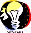 Vector Clip Art graphic  of a Idea Light bulbs