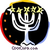 Menorahs Vector Clipart graphic