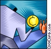 Vector Clipart illustration  of a Financial Concepts