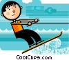 Water Skiing Vector Clipart graphic