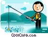 Fishing for Prospects Vector Clip Art picture