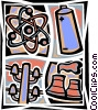 Power Plants Vector Clipart picture