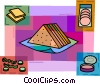 Vector Clip Art picture  of a Sandwiches