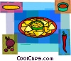 Vector Clipart illustration  of an Appetizers Hors d'oeuvres
