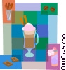 Gourmet coffee Vector Clipart illustration