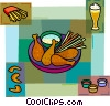 Vector Clip Art graphic  of a Dinner