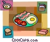 Vector Clip Art picture  of a Bacon & Eggs