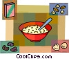Cold Cereals Vector Clip Art graphic