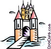 Vector Clip Art graphic  of a Castles