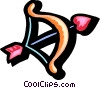 Vector Clip Art image  of a cupids bow & arrow