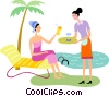 Vector Clipart graphic  of a Beach Scenes
