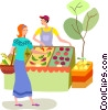 Vector Clip Art graphic  of a Miscellaneous Grocery Store Items