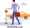 Parking Lots and Meters Vector Clip Art picture