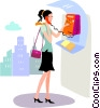 Vector Clipart illustration  of a Public Pay Phones