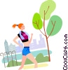 Runners Running Vector Clipart illustration