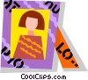 Vector Clip Art graphic  of a picture frame