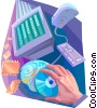 Vector Clip Art image  of a Technology Tools