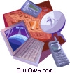Vector Clip Art picture  of a Communication Concepts