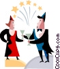 Vector Clip Art picture  of a new years eve celebration