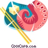 Vector Clipart graphic  of a Japanese food