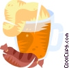 Vector Clipart picture  of a Beer and sausage