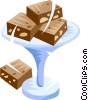 fudge brownies Vector Clipart illustration
