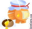 jar of honey Vector Clip Art image
