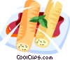 Vector Clip Art image  of a pita sandwiches