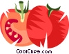 Vector Clipart graphic  of a Sliced tomatoes
