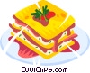 Vector Clip Art graphic  of a breakfast