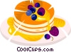 pancakes Vector Clipart picture