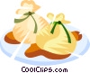 Vector Clipart graphic  of a supper
